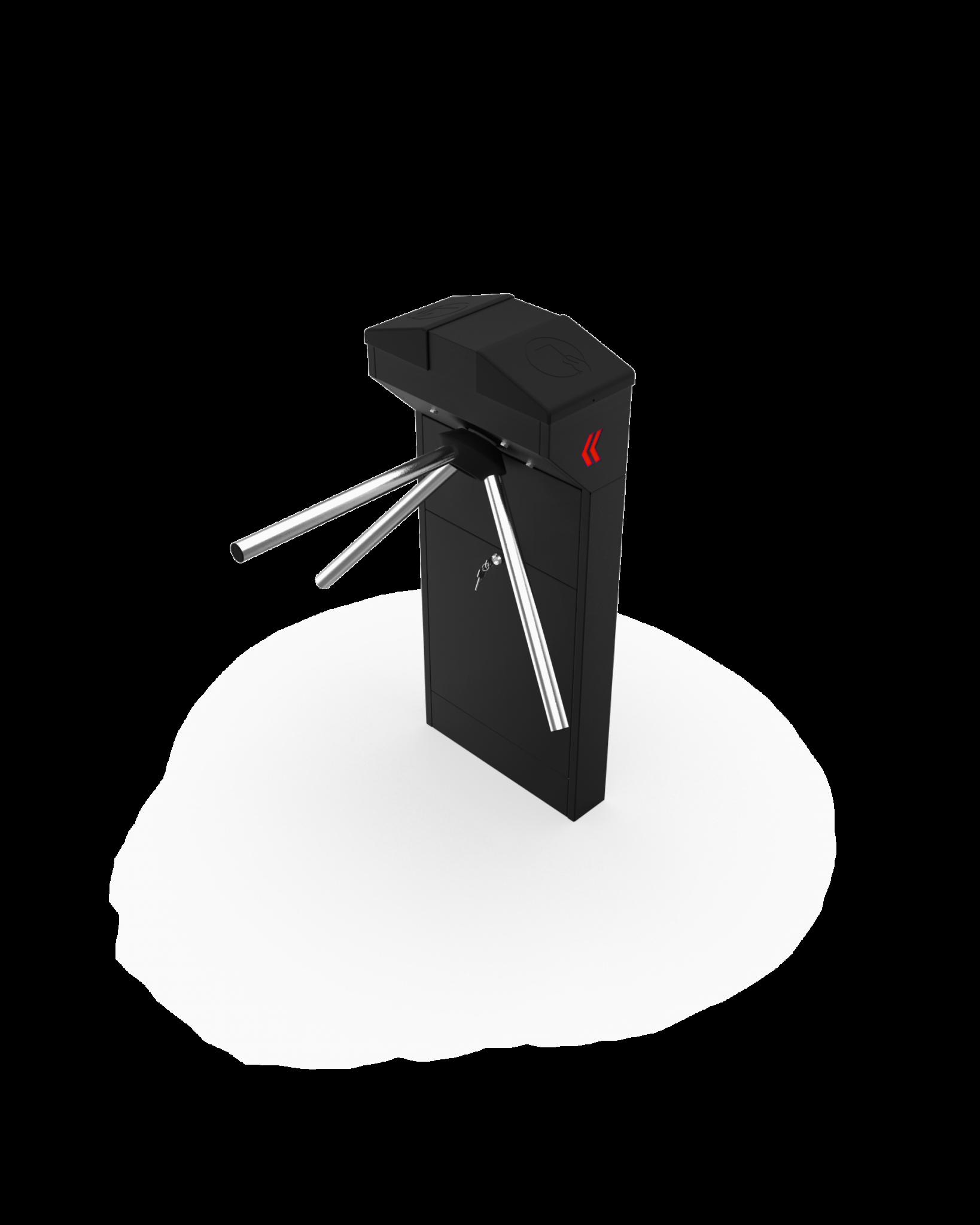 CRB 110C – Açılı Kapaklı Renkli Tek Ayaklı Turnike